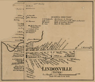 Lindonville, New York 1860 Old Town Map Custom Print - Orleans Co.
