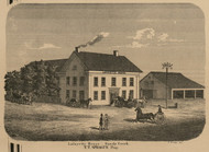 Lafayette House, New York 1860 Old Town Map Custom Print - Orleans Co.