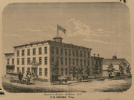 Moores Hotel, New York 1860 Old Town Map Custom Print - Orleans Co.