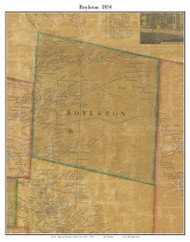Boylston, New York 1854 Old Town Map Custom Print - Oswego Co.