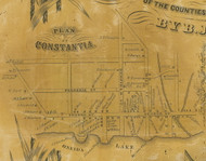 Constantia Village, New York 1854 Old Town Map Custom Print - Oswego Co.