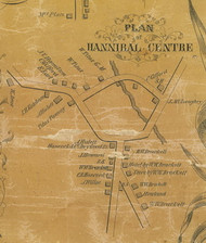Hannibal Centre - Hannibal, New York 1854 Old Town Map Custom Print - Oswego Co.