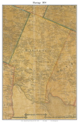 Hastings, New York 1854 Old Town Map Custom Print - Oswego Co.