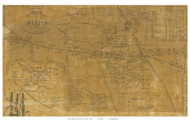 Mexico Village, New York 1854 Old Town Map Custom Print - Oswego Co.
