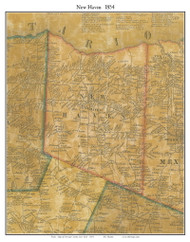 New Haven, New York 1854 Old Town Map Custom Print - Oswego Co.