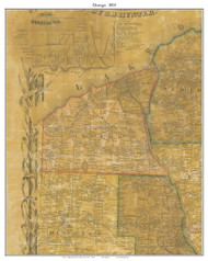 Oswego, New York 1854 Old Town Map Custom Print - Oswego Co.