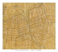 Oswego Village, New York 1854 Old Town Map Custom Print - Oswego Co.