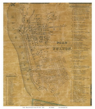 Fulton - Volney, New York 1854 Old Town Map Custom Print - Oswego Co.