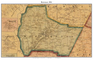 Butternuts, New York 1856 Old Town Map Custom Print - Otsego Co.