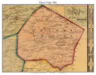 Cherry Valley, New York 1856 Old Town Map Custom Print - Otsego Co.