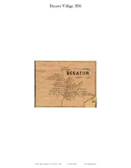 Decatur Village, New York 1856 Old Town Map Custom Print - Otsego Co.