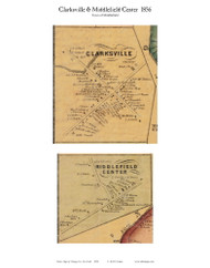 Middlefield and Clarksville Villages, New York 1856 Old Town Map Custom Print - Otsego Co.