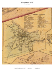 Cooperstown - Otsego, New York 1856 Old Town Map Custom Print - Otsego Co.