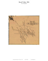 South Valley - Rosebloom, New York 1856 Old Town Map Custom Print - Otsego Co.