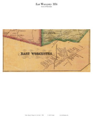 East Worcester - Worcester, New York 1856 Old Town Map Custom Print - Otsego Co.