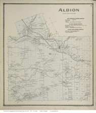 Albion, New York 1867 - Old Town Map Reprint - Oswego Co.