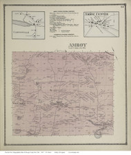 Amboy, New York 1867 - Old Town Map Reprint - Oswego Co.