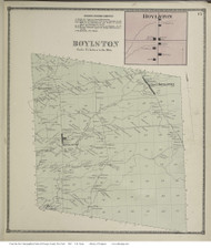 Boylston, New York 1867 - Old Town Map Reprint - Oswego Co.