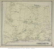 Constantia, New York 1867 - Old Town Map Reprint - Oswego Co.