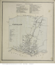 Costantia Village, New York 1867 - Old Town Map Reprint - Oswego Co.