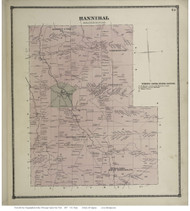 Hannibal, New York 1867 - Old Town Map Reprint - Oswego Co.