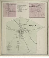 Hannibal Villages, New York 1867 - Old Town Map Reprint - Oswego Co.