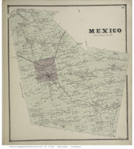 Mexico, New York 1867 - Old Town Map Reprint - Oswego Co.