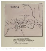Texas, Colosse, Constantia - Mexico, New York 1867 - Old Town Map Reprint - Oswego Co.