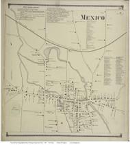 Texas - Mexico, New York 1867 - Old Town Map Reprint - Oswego Co.