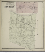 Mexico Village - Mexico, New York 1867 - Old Town Map Reprint - Oswego Co.