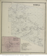 New Haven, New York 1867 - Old Town Map Reprint - Oswego Co.