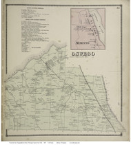 Orwell, New York 1867 - Old Town Map Reprint - Oswego Co.
