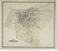 Oswego Built Portion, New York 1867 - Old Town Map Reprint - Oswego Co.