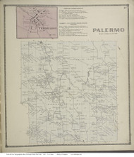Oswego Falls, New York 1867 - Old Town Map Reprint - Oswego Co.