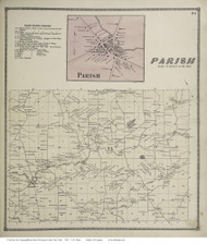 Palermo, New York 1867 - Old Town Map Reprint - Oswego Co.
