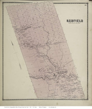Parish, New York 1867 - Old Town Map Reprint - Oswego Co.
