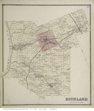 Redfield, New York 1867 - Old Town Map Reprint - Oswego Co.