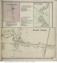 Sandy Creek, New York 1867 - Old Town Map Reprint - Oswego Co.