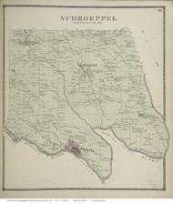 Sandy Creek Village, etc, New York 1867 - Old Town Map Reprint - Oswego Co.