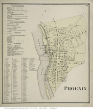 Schroeppel, New York 1867 - Old Town Map Reprint - Oswego Co.