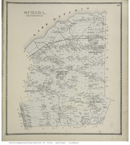 Schroeppel Villages, New York 1867 - Old Town Map Reprint - Oswego Co.
