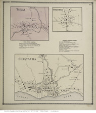 Scriba, New York 1867 - Old Town Map Reprint - Oswego Co.