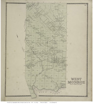 West Monroe, New York 1867 - Old Town Map Reprint - Oswego Co.