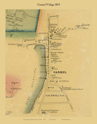 Carmel Village, New York 1854 Old Town Map Custom Print - Putnam Co.