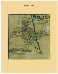 Berlin Village, New York 1861 Old Town Map Custom Print - Rensselaer Co.
