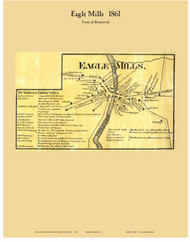 Eagle Mills, New York 1861 Old Town Map Custom Print - Rensselaer Co.