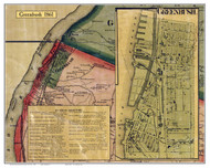 Greenbush, New York 1861 Old Town Map Custom Print - Rensselaer Co.