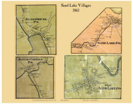 Sand Lake Villages, New York 1861 Old Town Map Custom Print - Rensselaer Co.