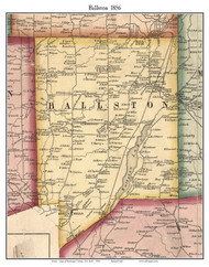 Ballston, New York 1856 Old Town Map Custom Print - Saratoga Co.