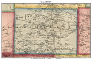 Greenfield, New York 1856 Old Town Map Custom Print - Saratoga Co.